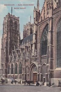 Belgium Brussells Eglise Sainte Gudule Entree Laterale