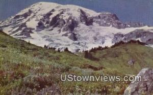 Mt Rainier, Wash, Post Card     ;     Mt Rainier, WA