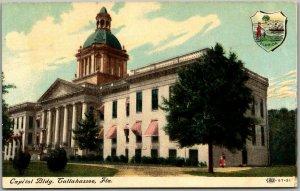 Vintage Tallahassee, Florida Postcard Capitol Bldg. c1910s UNUSED