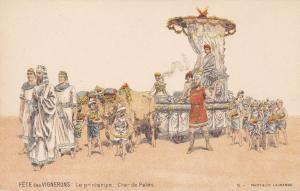 Fête des Vignerons de Vevey , Switzerland , 1890s ; Le printemps , Char de Pales