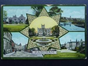Lancashire Burnley PADIHAM 5 Image Multiview c1915 Postcard by Valentine