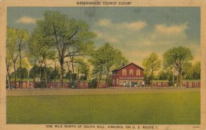 SOUTH HILL , Virginia , 1930-40s ; Greenwood Tourist Court