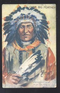 ARTIST SIGNED PETERSON NATIVE AMERICANA POSTCARD INDIAN