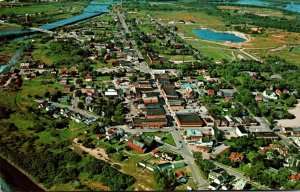 Minnesota Manistique Aerial View Of Downtown Business District