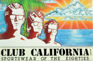 Scarce 1980's Original Club California Brand Sportswear Vintage Postcard &A