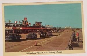 Int'l Grand Prix Sebring FL Race Cars Fiat Girling Signs Speedway Racetrack Flag