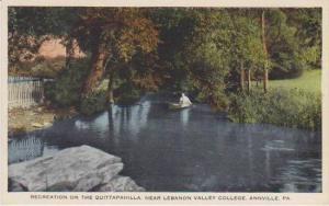 Man in Canoe on the Quittapahilla, near Lebanon Valley College, Annville, Pen...