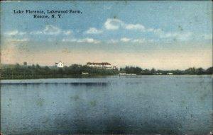 Roscoe NY Lake Florence c1910 Postcard