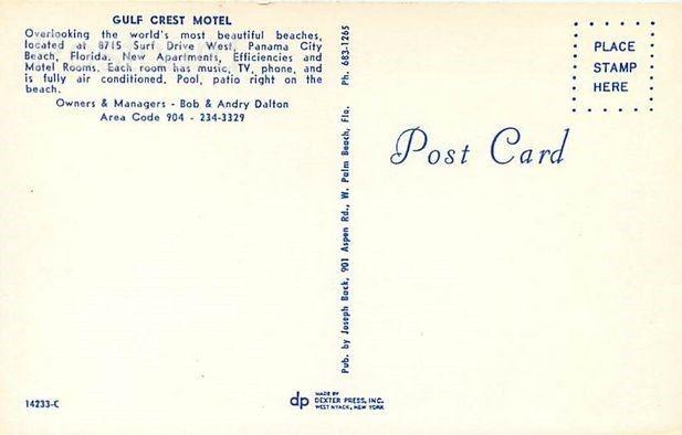 FL, Panama City, Florida, Gulf Crest Motel, 1970s Cars
