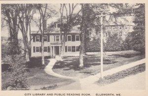 Maine Ellsworth City Library & Public Reading Room Albertype sk2100
