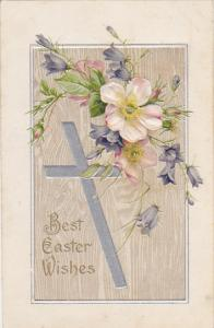 Easter Silver Cross with Beautiful Flowers 1909