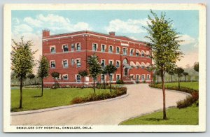 Okmulgee Oklahoma~Okmulgee City Hospital~Awnings @ Windows~1920s