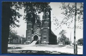 St Mary's Church Tracy Minnesota mn real photo postcard RPPC