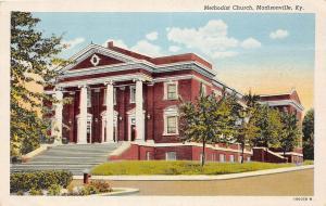 Kentucky Ky Postcard c1920 MADISONVILLE Hopkins County METHODIST CHURCH