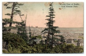 1910 A View of Seattle, WA from Kinnear Park, Hand-Colored Postcard *6L23