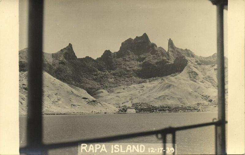 french polynesia, RAPA Island, Byrd Antarctic Expedition III (1939) RPPC (3)
