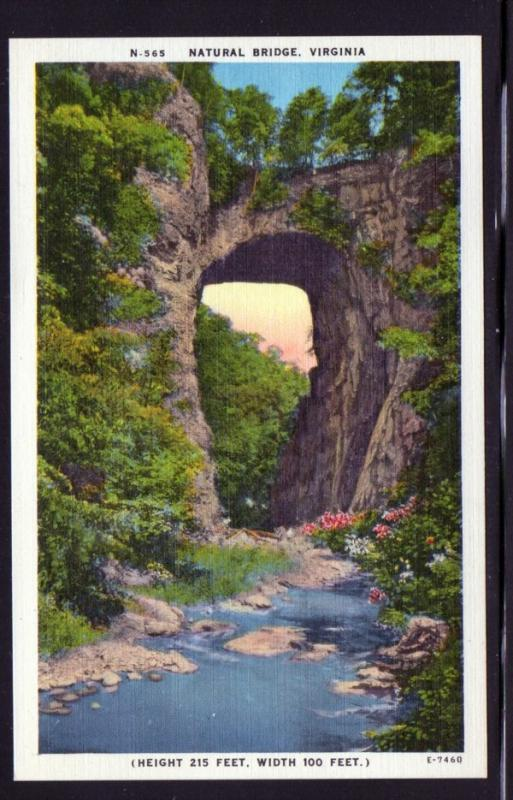 Virginia colour PC Natural Bridge  unused