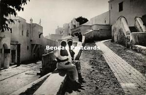 morocco, CASABLANCA, Street Scene with Topless Nude Girls (1950s) RPPC