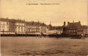 CPA Le Creusot Place Schneider FRANCE (952897)
