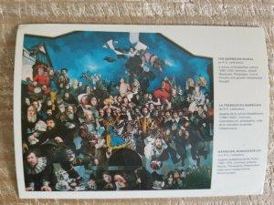 THE BARBARICAN MURAL BY R O LENKIEWICZ.VTG ART POSTCARD*P12