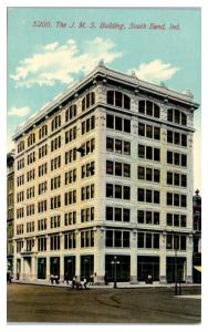 Early 1900s The JMS Building, South Bend, IN Postcard