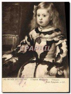 Old Postcard Musee Du Louvre L & # 39Infante Marguerite Velasquez Spanish School
