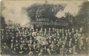 Hungary Budapest school history graduate students 1921 photo postcard