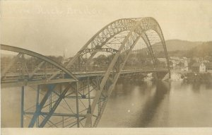 Bellows Falls, Vermont Postcard Arch Bridge RPPC?