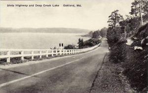 Maryland Oakland State Highway & Deep Creek Lake Albertype