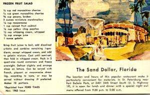 Florida St Petersburg The Sand Dollar Restaurant & Lounge With Frozen Fruit S...