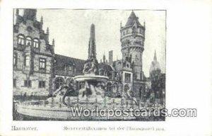 Monumentalbrunnen bei der Flusswasserkuust Hannover Germany Unused