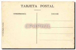 Old Postcard Barcelona Tibidabo Vista del Gran Restarunt