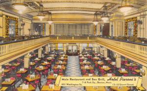 Boston Massachusetts~Hotel Pieroni's~Main Restaurant~Sea Grill~1940s Linen PC