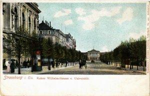 CPA AK STRASSBURG-Kaiser Wilhelm-Strasse u.Universitat (428577)