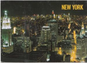 New York City, Aerial view of Lower Manhattan, 2012 used Postcard