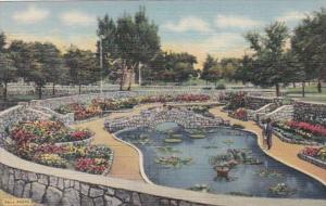 New Mexico Roswell Sunken Garden Cahoon Park Curteich