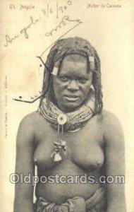 Angola Mulher de Caconda African Nude Nudes Postcard Post Card Unused