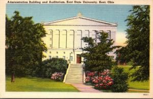 Ohio Kent Administration Building and Auditorium Kent State University 1952