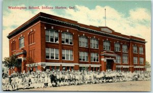 1910s East Chicago, Indiana Postcard Washington School Indiana Harbor Students