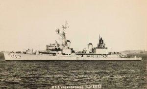 RPPC U.S.S. VOGELGESANG (DD-862) Navy Destroyer Military c1940s Vintage Postcard