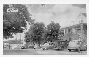 F52/ Ridgeville Maryland Postcard c1940s Main Street Stores Cars