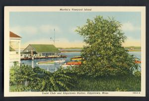 Martha's Vineyard, Mass/MA Postcard, Yacht Club, Cape Cod
