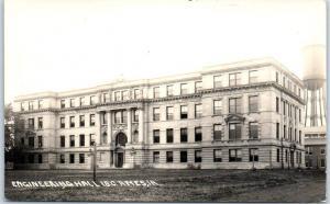 1910s Iowa State University RPPC Postcard ENGINEERING HALL I.S.C. AMES Unused