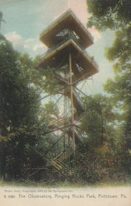 POTTSTOWN , Pennsylvania, 1901-07 ; Observatory , Ring Rocks Park