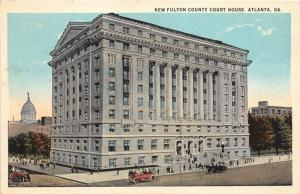 Atlanta Georgia~New Fulton County Court House~Huge Building~Street Scene~1920s
