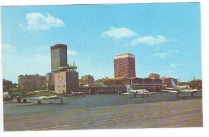 Burke Lakefront Airport showing Skyline, Cleveland, Ohio, 40-60s