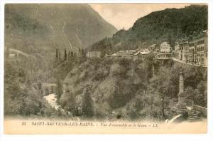 Saint-Sauveur-les-Bains , France , 00-10s ; Vue d'ensemble et le Gave