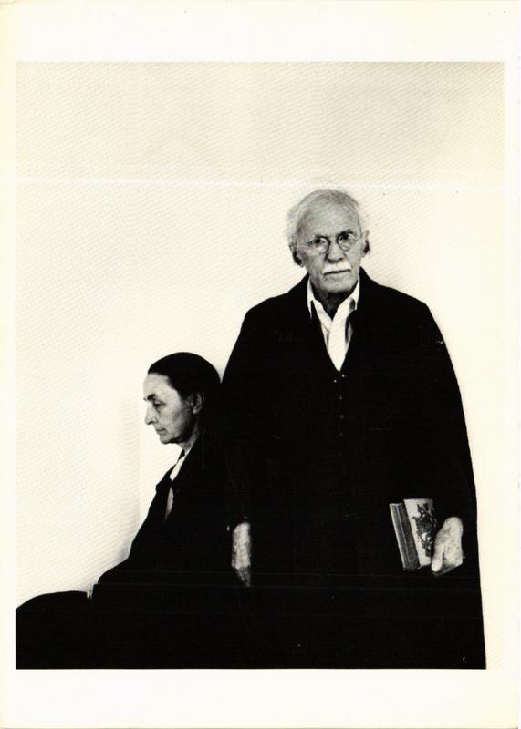 CPM AN11 Georgia O'Keeffe and Alfred Stieglitz 1942 ARNOLD NEWMAN (d1102)