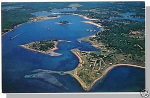 Onset, Massachusetts/MA/Mass, Aerial View, The Village & Beach, Cape Cod