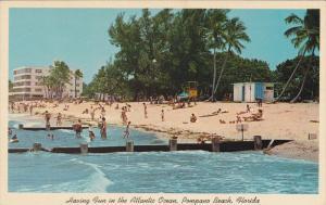 Having Fun in the Atlantic Ocean, Pompano Beach, Florida, United States, 40s-60s